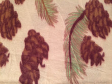 Nature Print Leaves Pinecones Throw Blanket 50x60