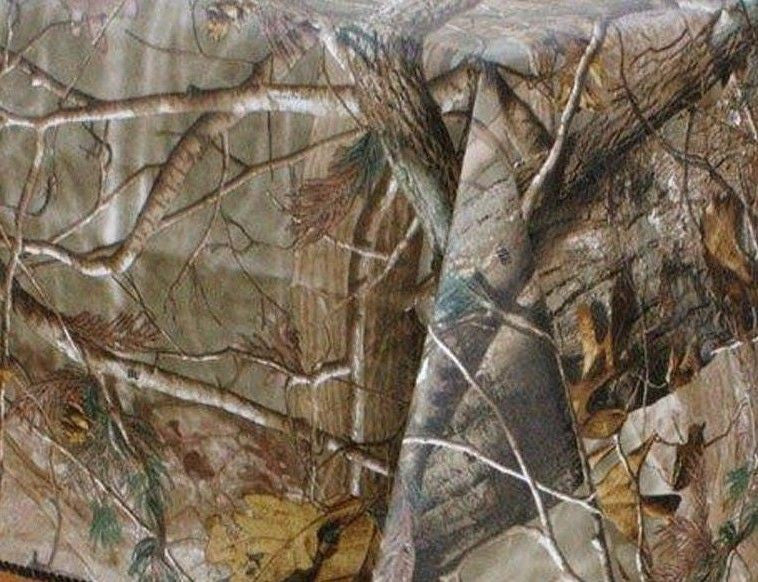 Realtree Ap Camouflage Peva vinyl flannel back tablecloth 60