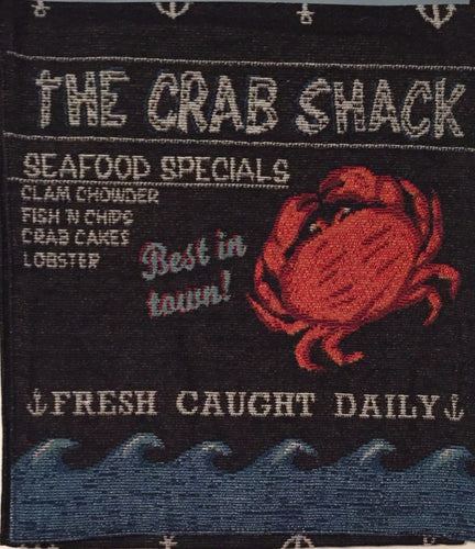 Crab Shack Tapestry Table Runner 13x72