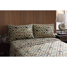 Full Sheet Set Wilderness Retreat Woodland Cabin Lodge Bear Deer Remington