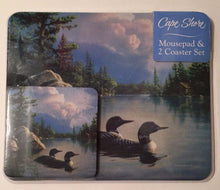 Ducks on a Lake View Tanquil Moments Mousepad and 2 Coaster Set