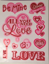 All You Need Is Love Valentine's Day Window Clings
