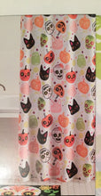 Sugar Skulls Day of the Dead Halloween Fabric Shower Curtain