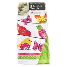 Ritz Springtime Birds On A Wire kitchen dish towels Set of 2