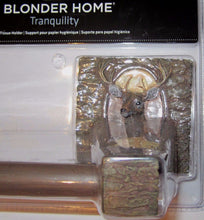 Blonder Home Tranquility Toilet Paper Holder Deer Buck Cabin Woodland