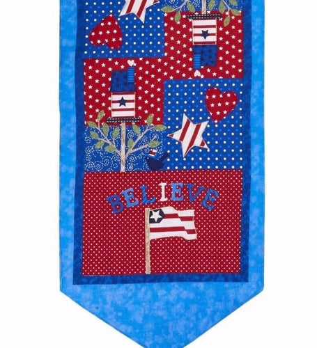 Patriotic Americana Table Runner 13
