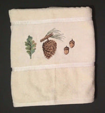 Creative Bath Northwoods Embroidered Bath Towel Pine Cones