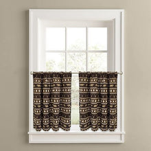"Colordrift Forest Friends 24"" Tier Pair Kitchen Curtains Bears"
