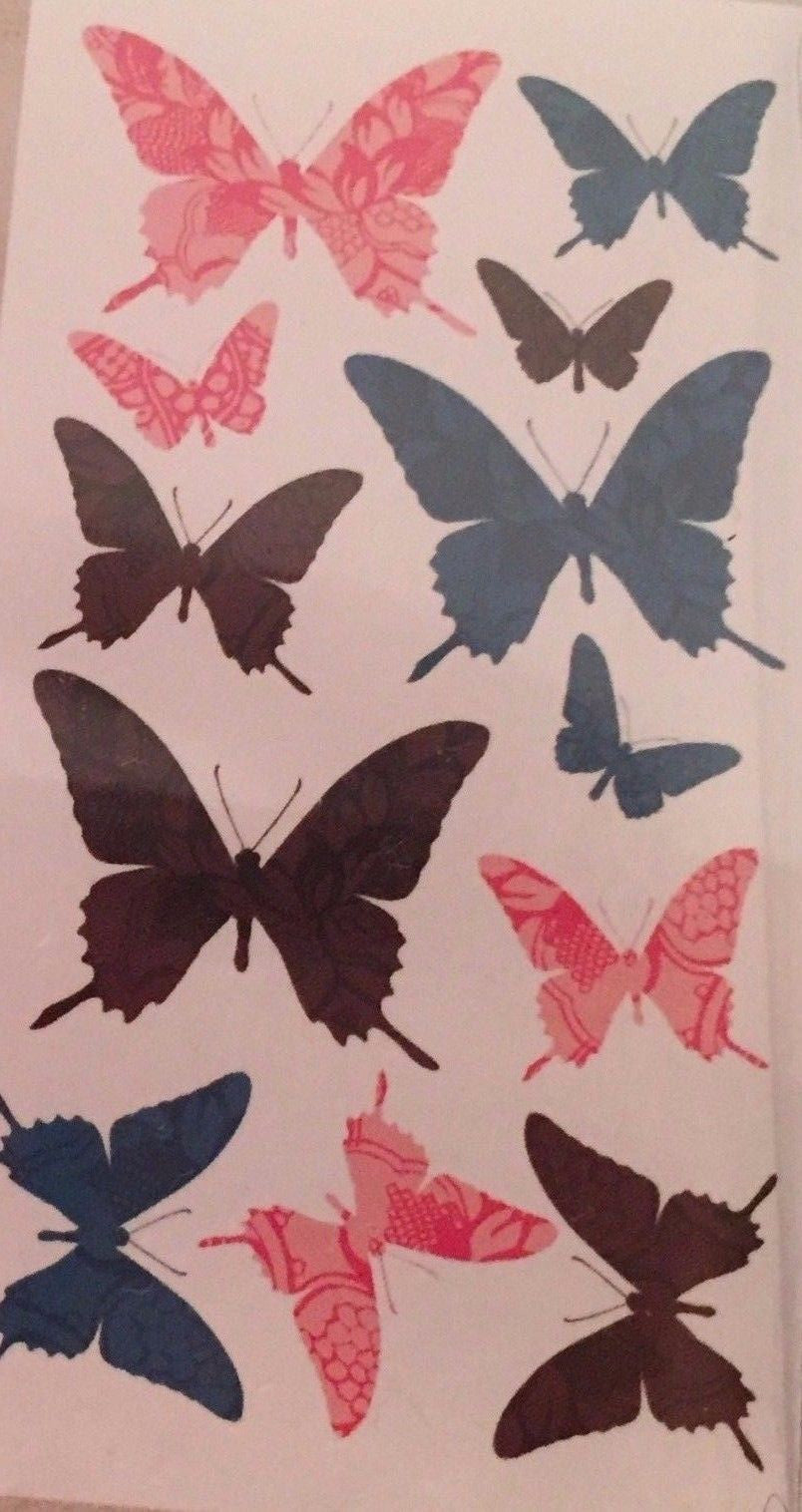 Die Cuts With A View Wall Art Lace Butterflies Butterfly