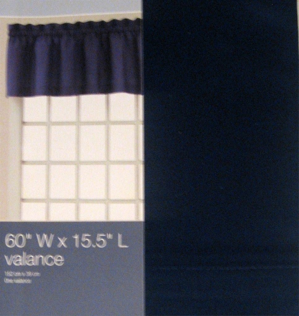 Indigo Blue Tailored Valance Curtain