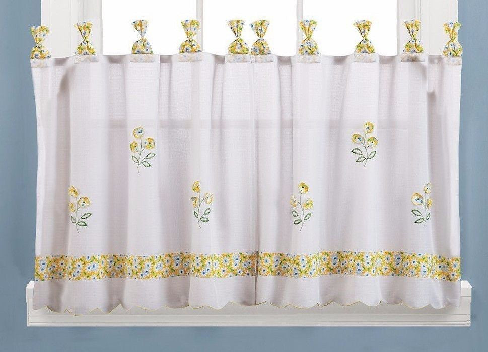 Oopsy Daisy 57 x 36 Tier Pair in Buttercup Yellow