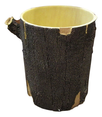 Blonder Home Timberwood Woodland Lodge Tree Stump Log Cabin Bath Waste Basket