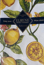 Elrene Lemon Zest vinyl flannel back tablecloth 52 Square