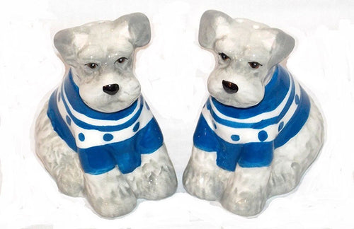 American Atelier Schnauzer Dog Ceramic Salt and Pepper Shaker Set