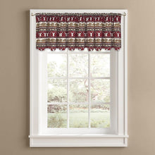 Colordrift Wilderness Tier Set or Valance Kitchen Curtains Red
