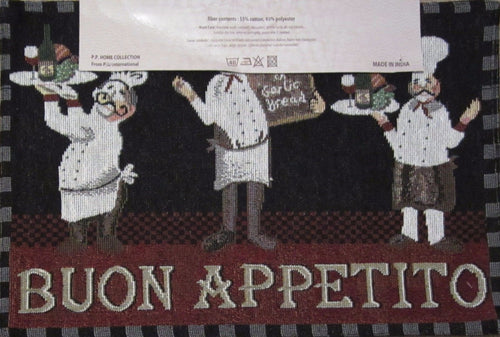 Tapestry Placemats Fat Chef Buon Appetito Set of 4