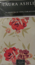 Laura Ashley Tablecloth Vinyl Flannel Back Ascot Rose Floral 52 x 70