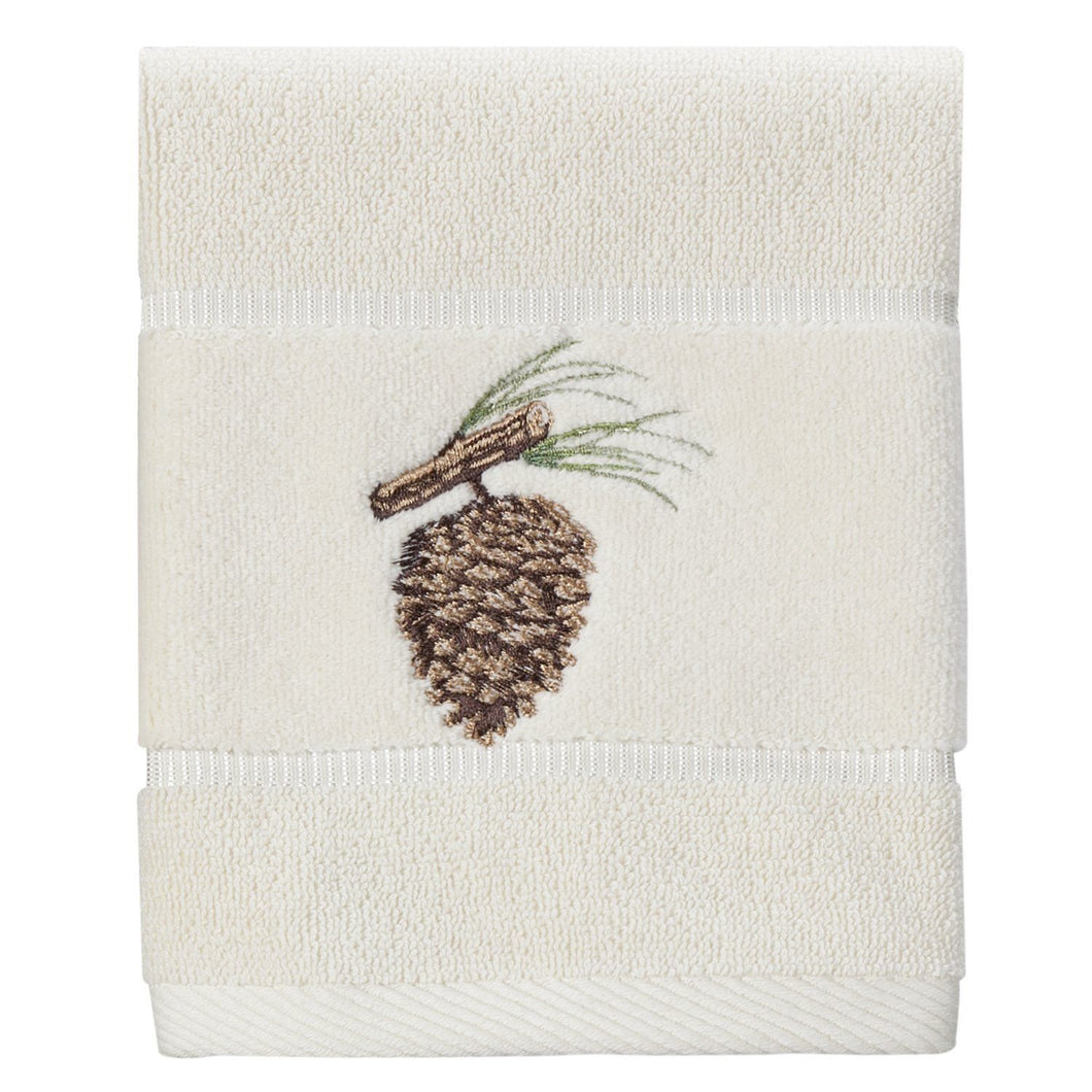 Creative Bath Northwoods Wash Cloth Pine Cones