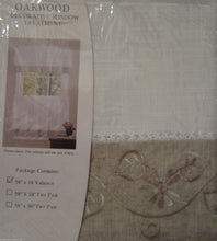 Oakwood Natural White Floral Kitchen Curtain Valance