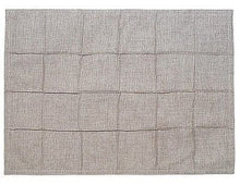 Linen Beige Placemats Square Root Design Set of 4