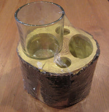 Blonder Home Timberwood Tumbler Cup Toothbrush Holder