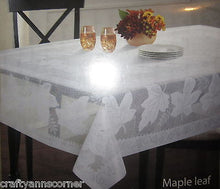 Tablecloth 52 x 70 Falling Leaves Maple Leaf Lace Ivory