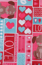All You Need Is Love and A Dog Vinyl Flannel Back Tablecloth Various Sizes