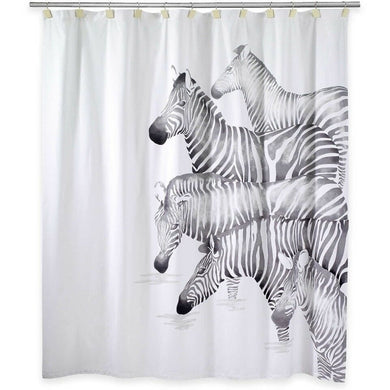 Avanti Pundamilia Fabric Shower Curtain Zebra