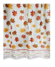 Autumn Fabric Shower Curtain Fall Maple Leaves