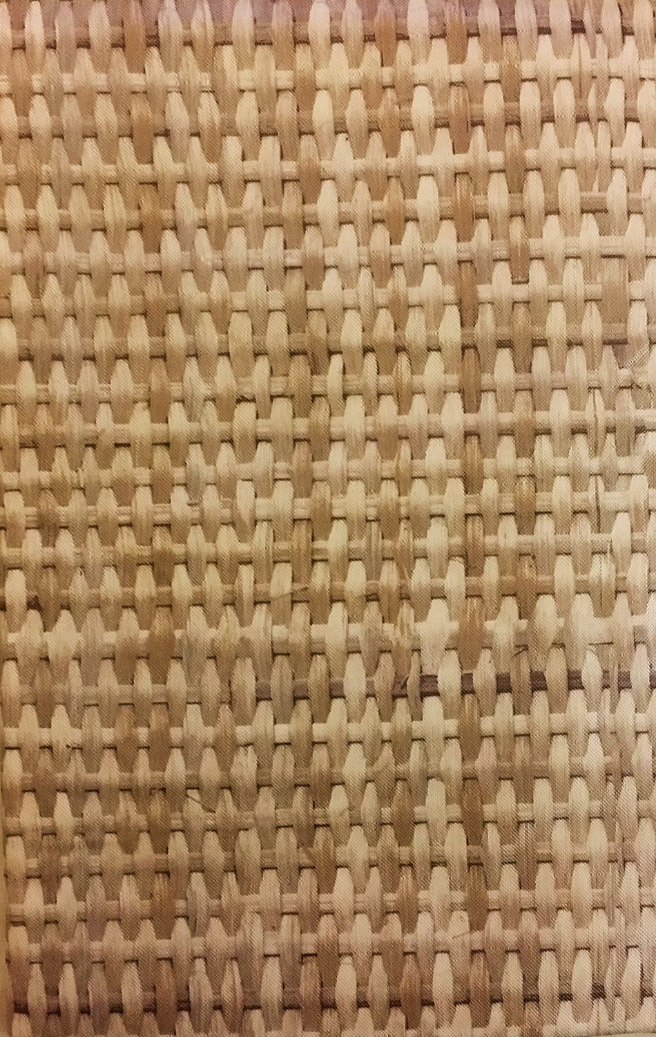 Bamboo Basket Weave Vinyl Flannel Back Tablecloth Round or Oblong