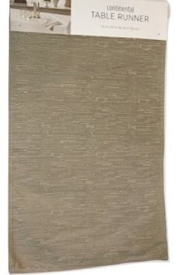 Bardwil Continental Table Runner 14 x 70 Taupe Polyester Texture