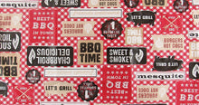 Best BBQ in Town Red Gingham Check Vinyl Flannel Back Tablecloth 52 x 70 Oblong
