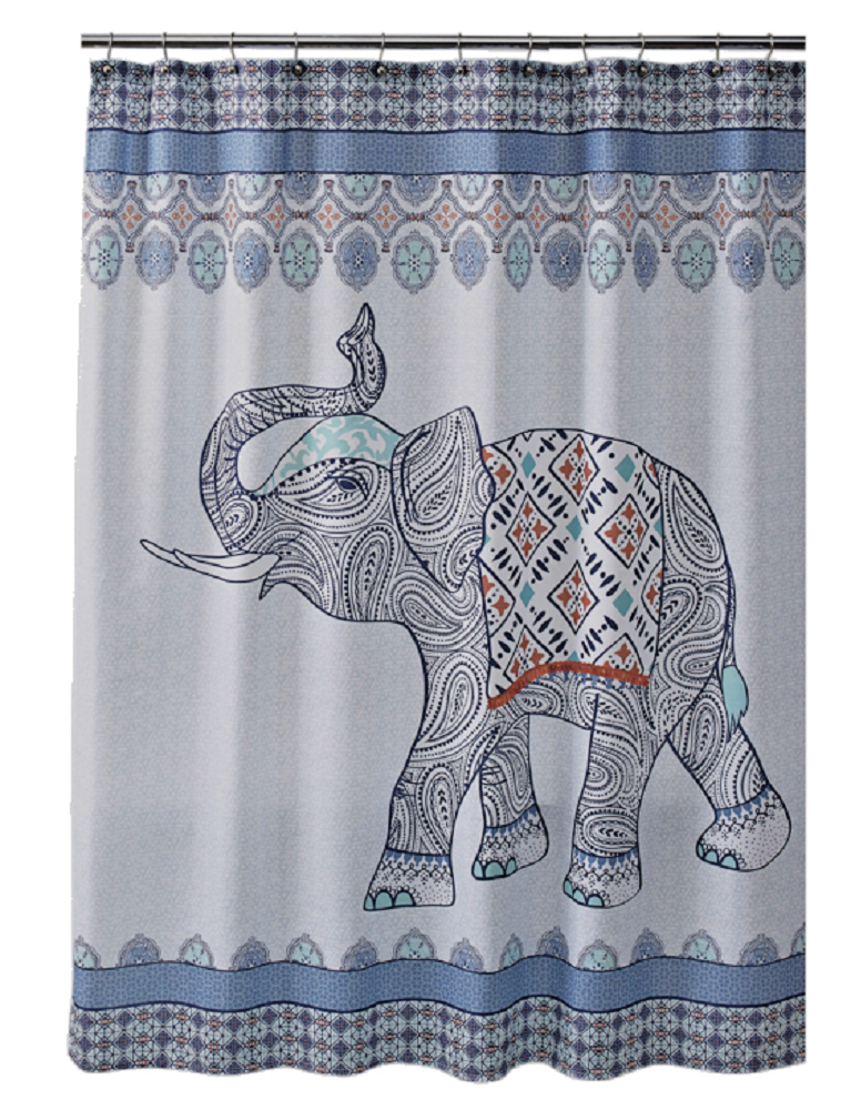 Better Homes and Gardens Global Bohemian Elephant Shower Curtain
