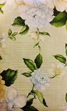 Elrene Blue and Yellow Floral Vinyl Flannel Back Tablecloth 52 x 70 Oblong