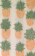 Boho Pineapple Vinyl Flannel Back Tablecloth 52 x 70 Oblong