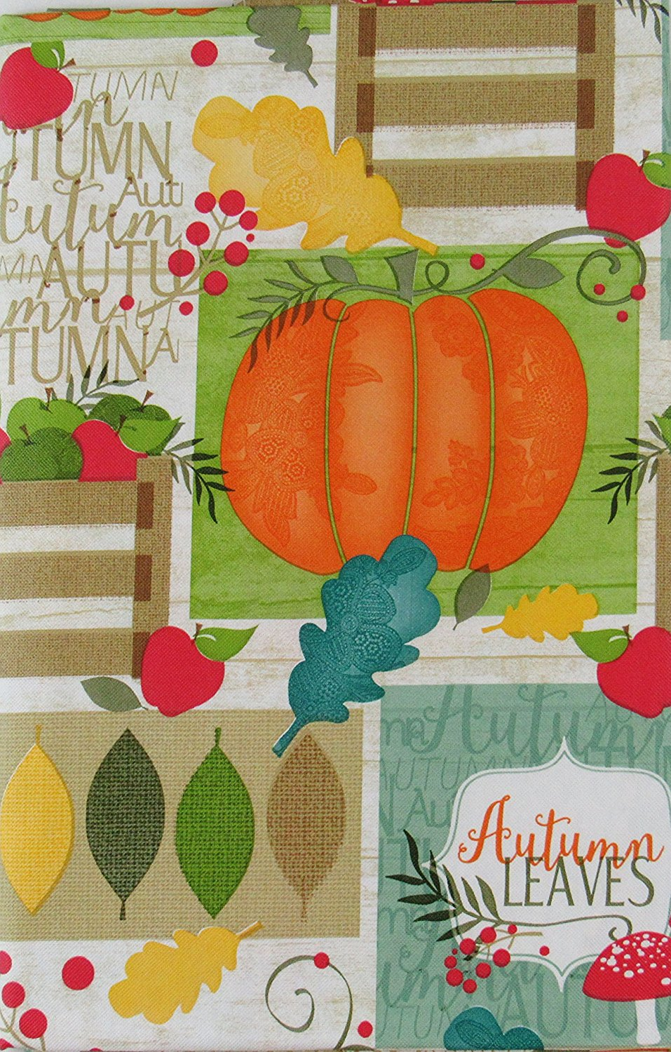 Bountiful Harvest Autumn Collection Vinyl Flannel Back
