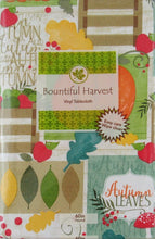 Bountiful Harvest Autumn Collection Vinyl Flannel Back Tablecloth
