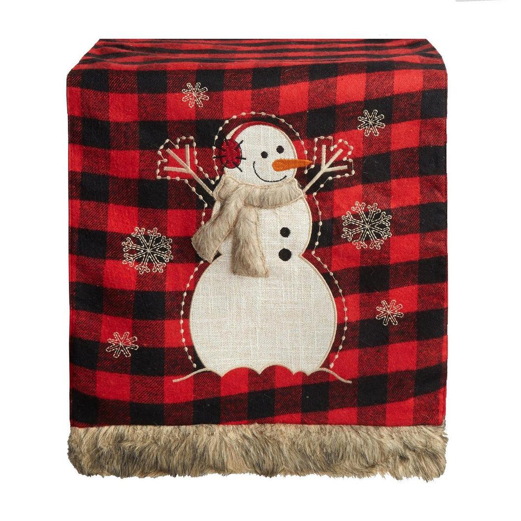 Buffalo Red Black Plaid Snowman Table Runner 13 x 72 inches Christmas