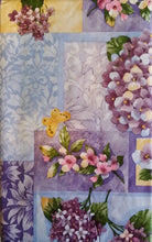 Butterflies Dragonflies Lilacs Flowers Vinyl Flannel Backed Tablecloth 60 Round