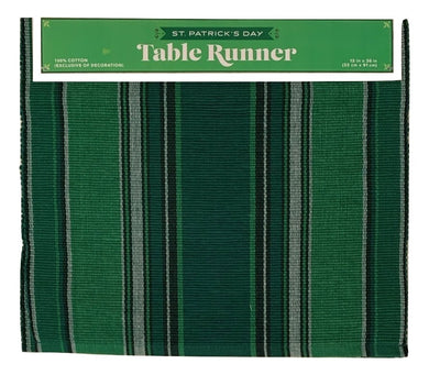 St Patricks Day Celtic Irish Stripe 36 inch Table Runner