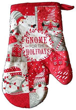 Christmas Kitchen Linen Set Towels Potholder Oven Mitt Gnome For the Holidays