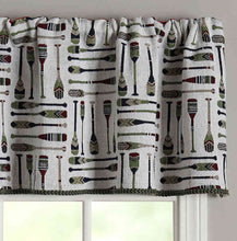 Oars Tapestry 60 Inch Rod Pocket Window Curtain Valance Lakehouse Lodge Cabin