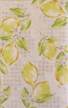 Lemons vinyl flannel back tablecloth 52 x 70 Oblong