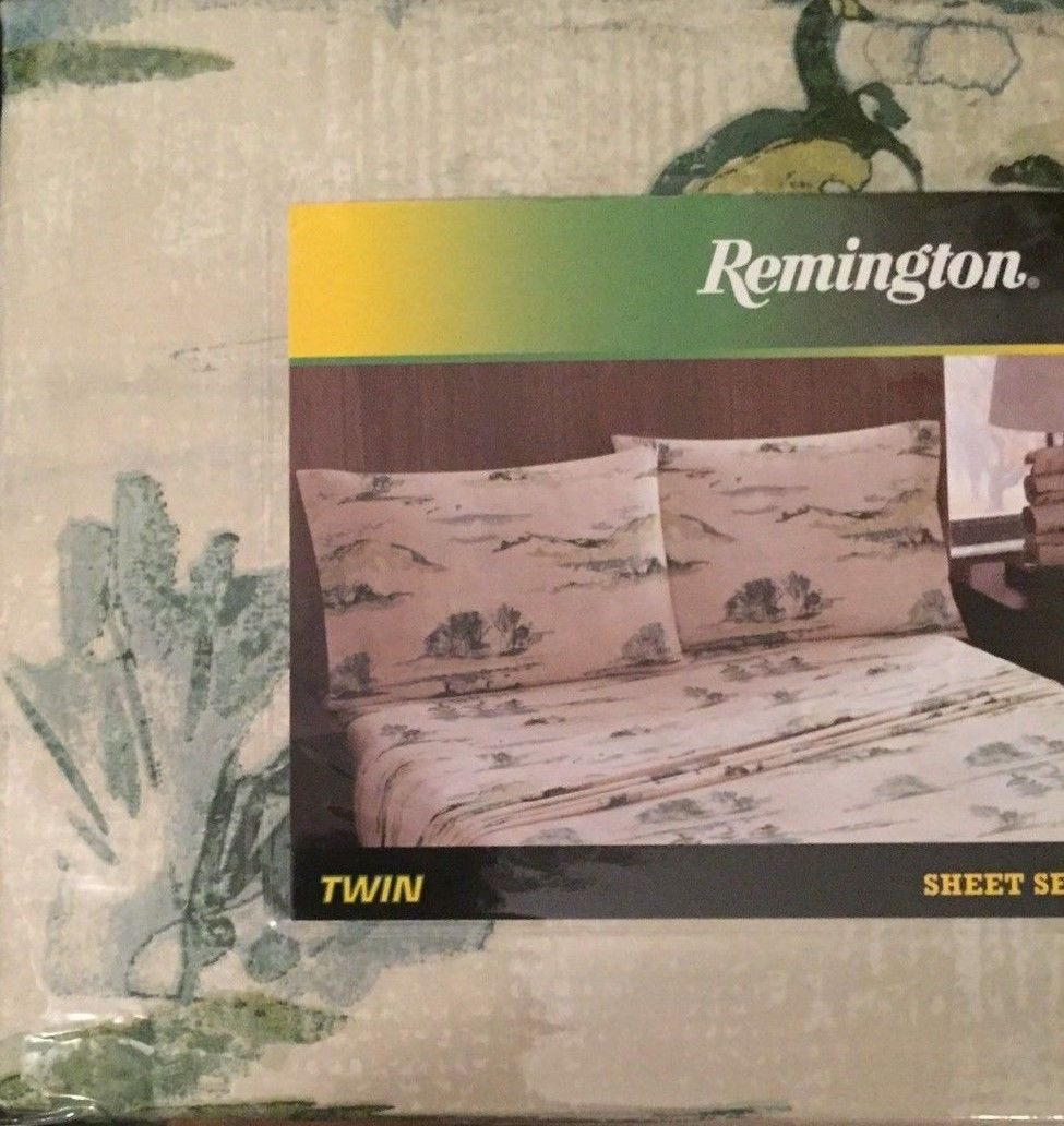 Ducks Geese Marsh Twin Sheet Set Woodland Cabin Remington