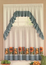 Ellery Homestyles 36L Tier and Swag Curtain Set Blooming Sunflowers and Lemons