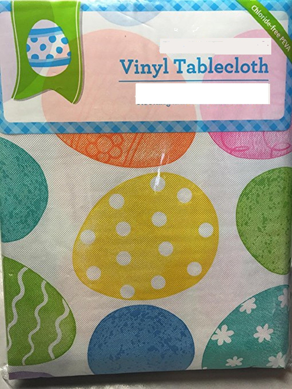 Easter Eggs Vinyl PEVA Tablecloth