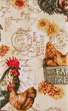 Elrene Farm Fresh Rooster Vinyl Flannel Back Tablecloth