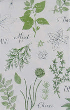 Elrene Fresh Garden Herbs Parsley Sage Vinyl Flannel Back Tablecloth 60 Round