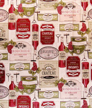 Elrene Vintage Wine Vinyl Flannel Back Tablecloth 60 Round