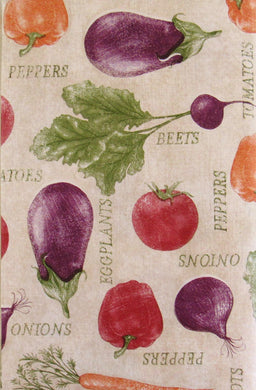 Farm Fresh Vegetables Collection Vinyl Flannel Back Tablecloth 52 x 70 Oblong